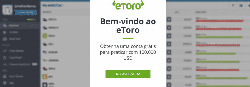 conta virtual etoro