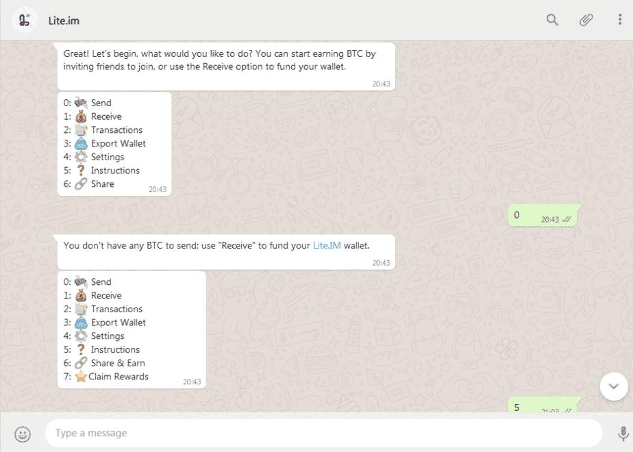 whatsapp bitcoin