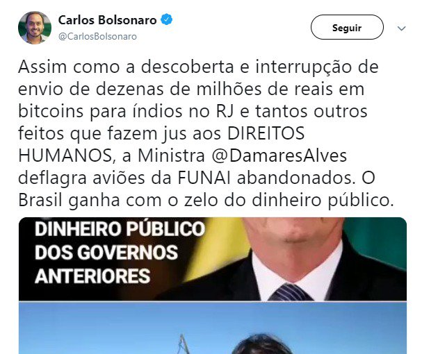 bolsonaro damares bitcoin fake news