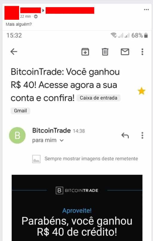 bitcointrade bônus crédito criptomoedas
