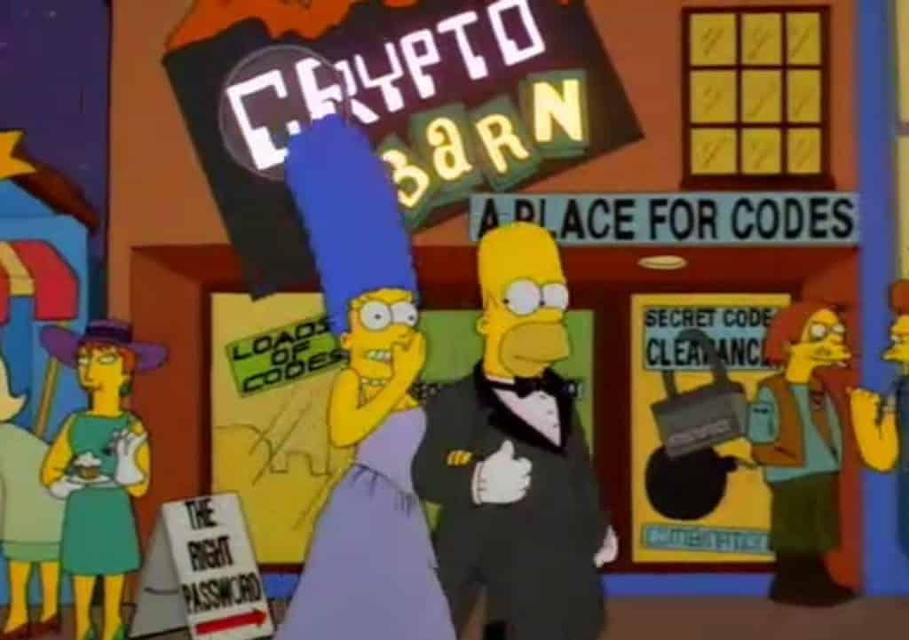 bitcoin simpsons criptomoeda