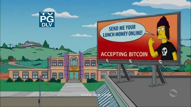 simpsons bitcoin criptomoedas bitcoinnatv