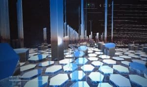 blockchain 3d simulação cardano hoskinson