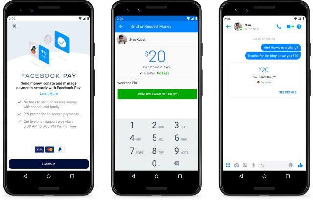 facebook pay sistema de pagamento instagram whatsapp libra