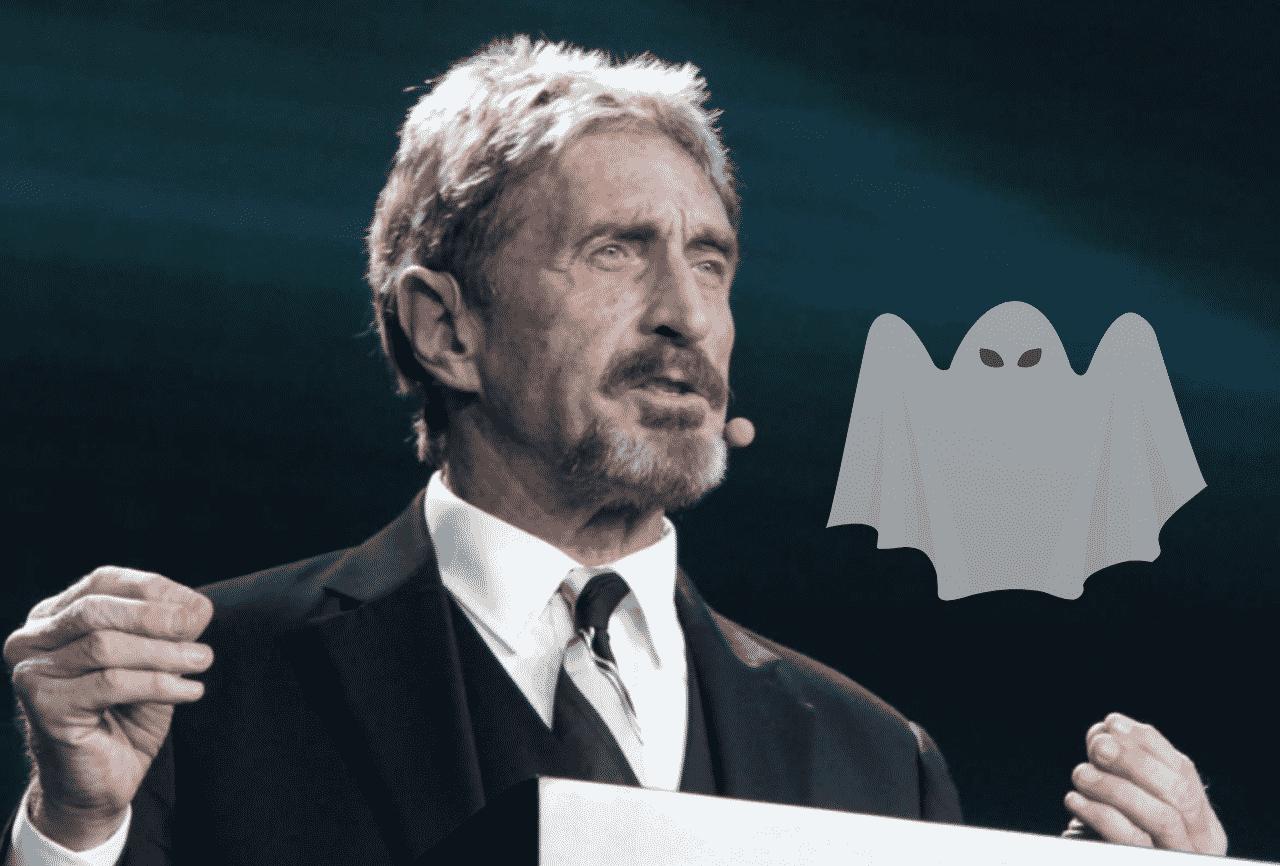 Mesmo preso, McAfee está de volta com a criptomoeda Ghost
