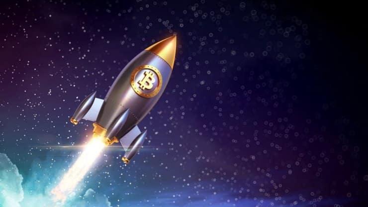 Bitcoin voando: Capitalização de mercado supera Mastercard