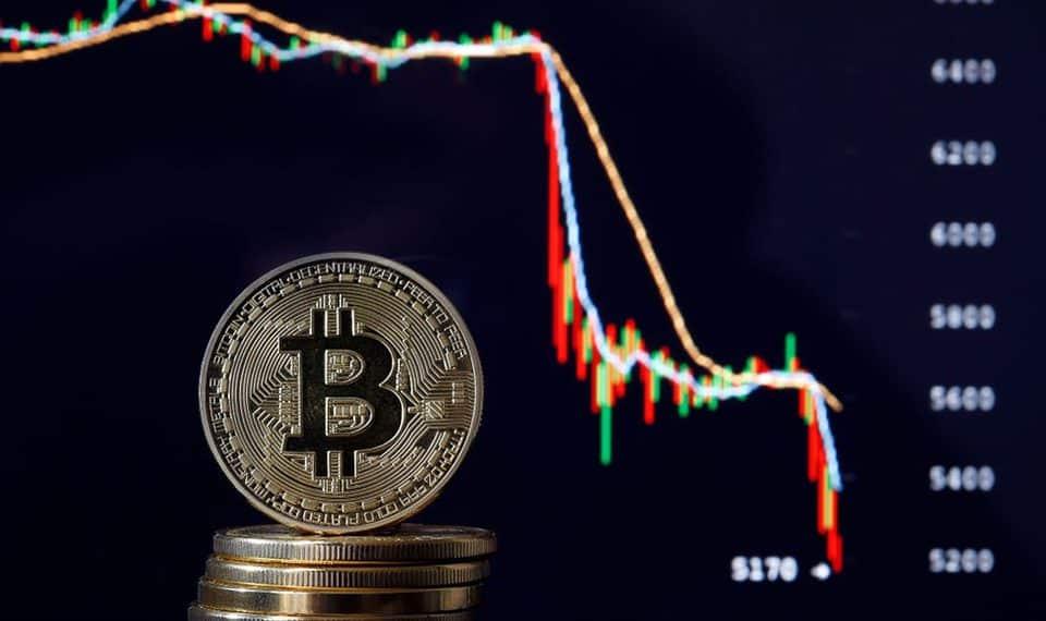 Queda no Bitcoin