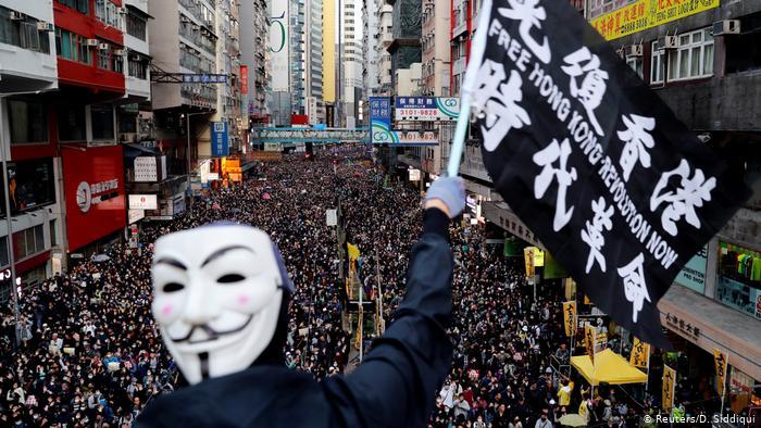 Manifestações Hong Kong