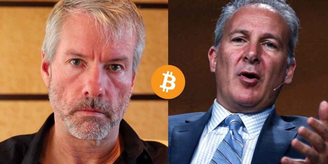 Michael Saylor - Peter Schiff - Bitcoin