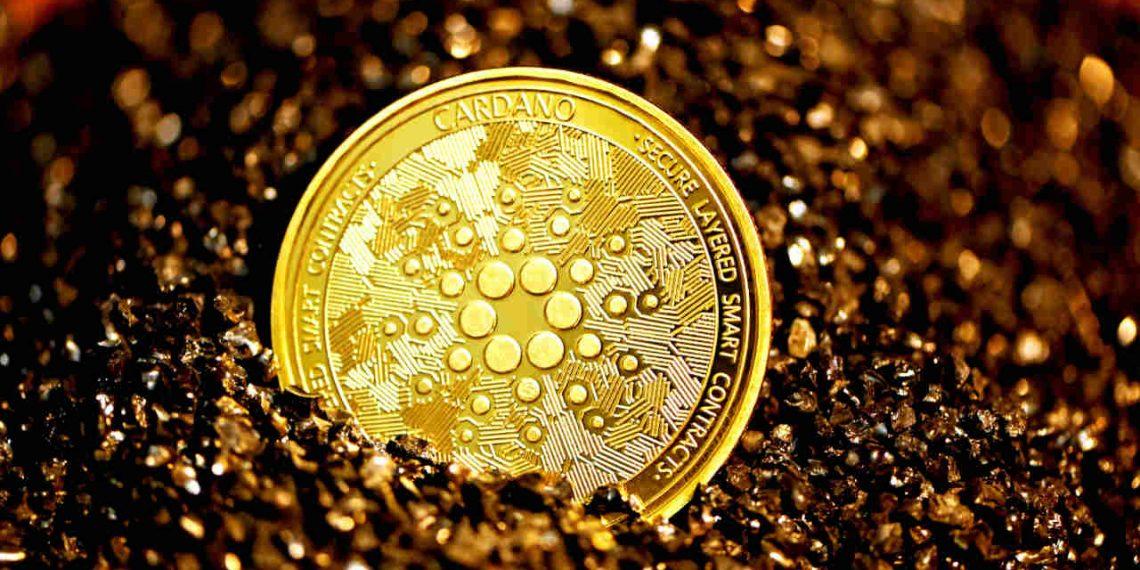 Cardano - moeda lastreada em ouro